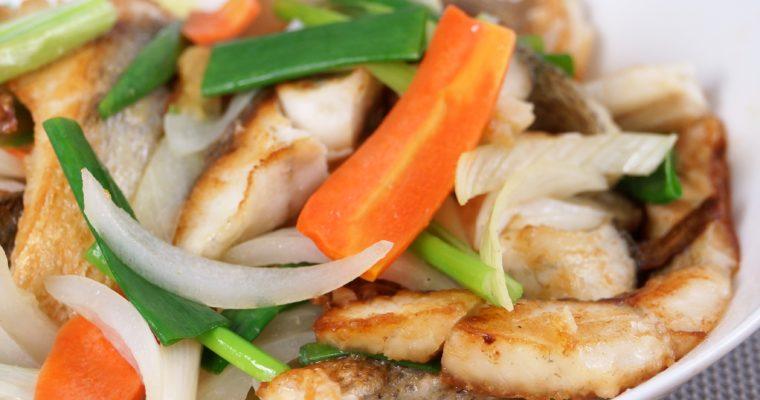 味噌薑燒鱸魚