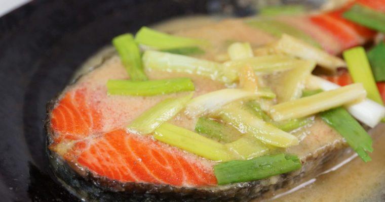 味噌醬燒紅鮭魚片