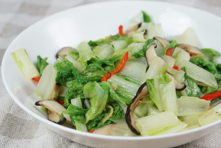 小白菜炒乾香菇