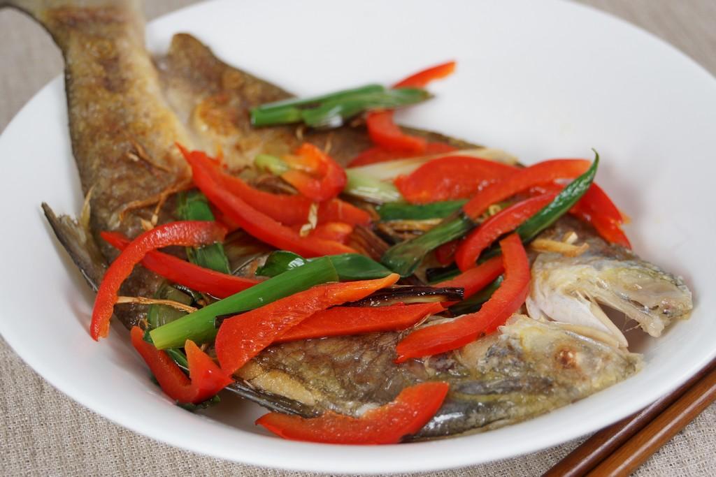 蔥椒薄鹽魚