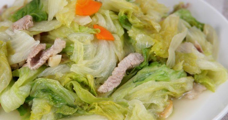 豬肉炒萵苣