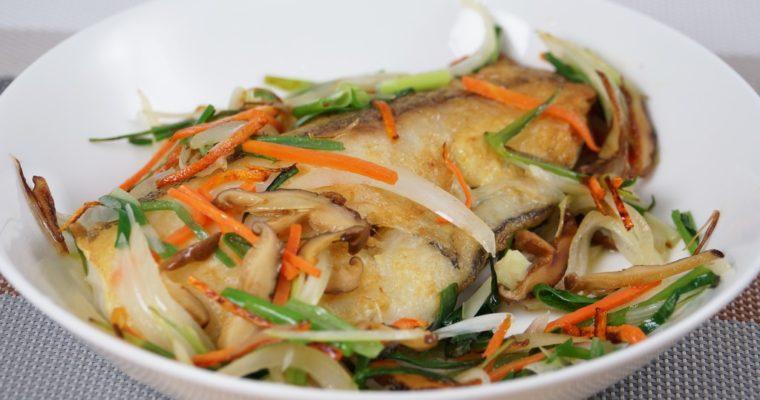 香蔥煎鱈魚