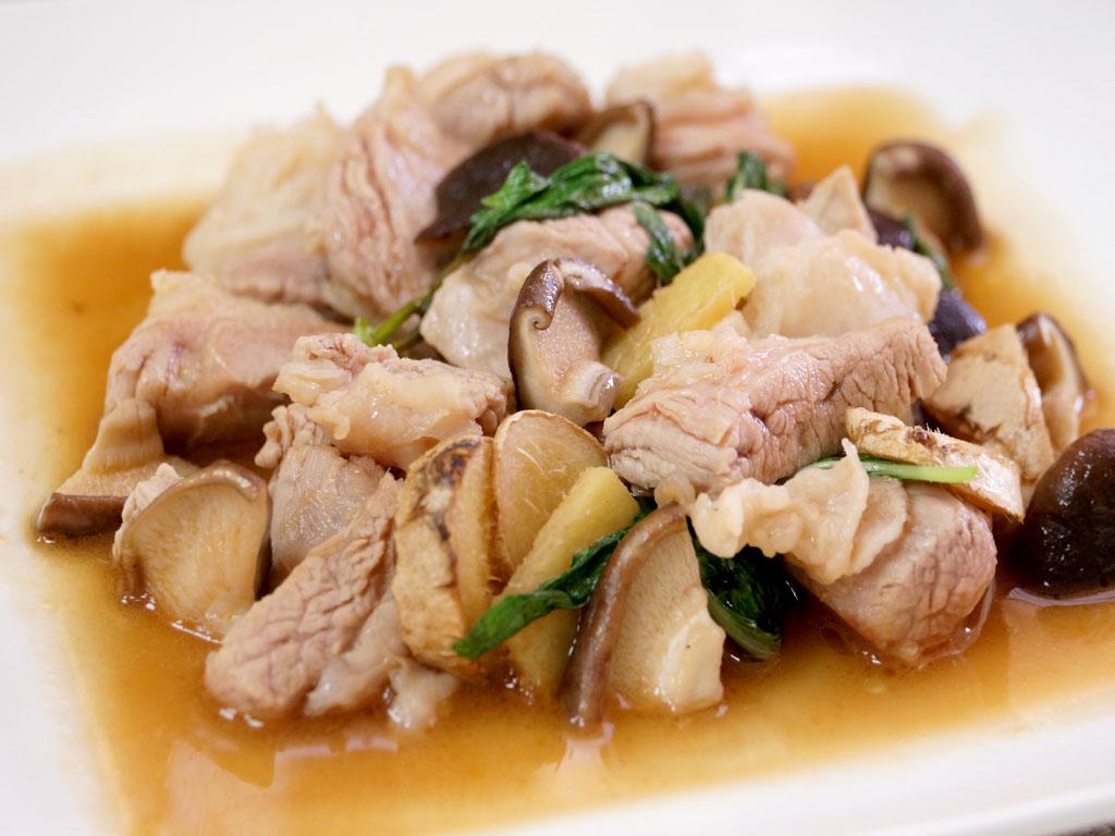 麻油香菇豬