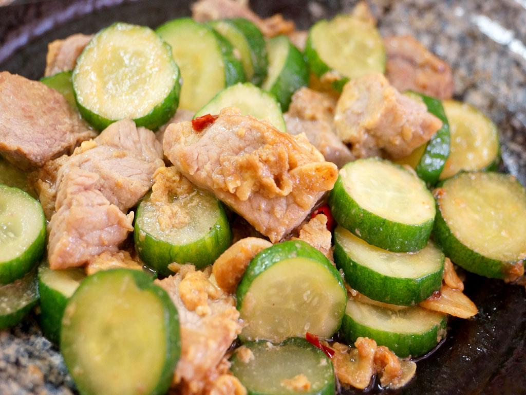黃瓜炒牛肉