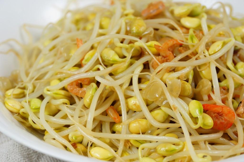 黃豆芽炒蝦米